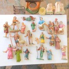 Figuras de Belén: LOTE DE FIGURAS DE BELEN ANTIGUAS NACIMIENTO NAVIDAD. Lote 44058986