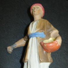 Statuine di Presepe: FIGURA BELEN BARRO AÑOS 60?? PASTORCILLO. Lote 44591464