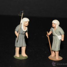Figuras de Belén: FIGURAS DE BELEN O PESEBRE EN PLOMO. Lote 45135083
