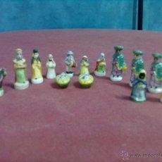 Figuras de Belén: 14 FIGURAS PORCELANA 13 DE BELEN. Lote 45830106