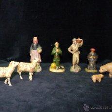 Figuras de Belén: LOTE DE 8 FIGURAS DE BELÉN ANTIGUAS. BARRO. 6 CM. JOSÉ GARCÍA. MURCIA. CIRCA 1900. Lote 46274446