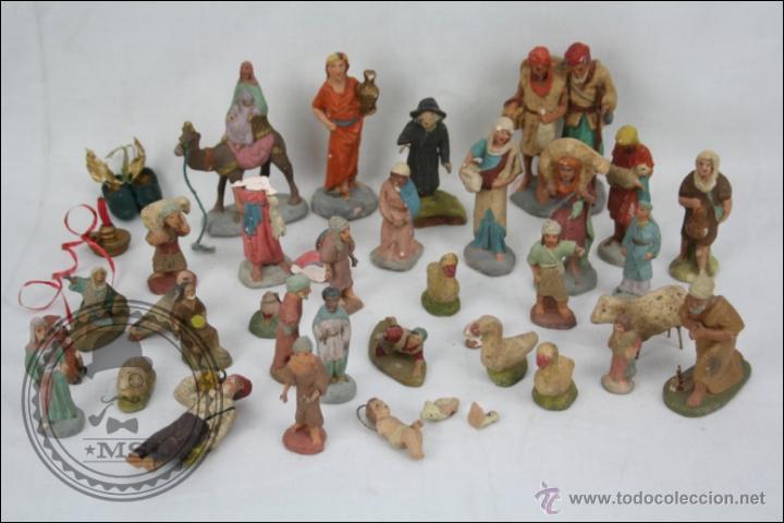 Conjunto de unas 35 figuritas de bel n para res comprar - Figuritas para el belen ...