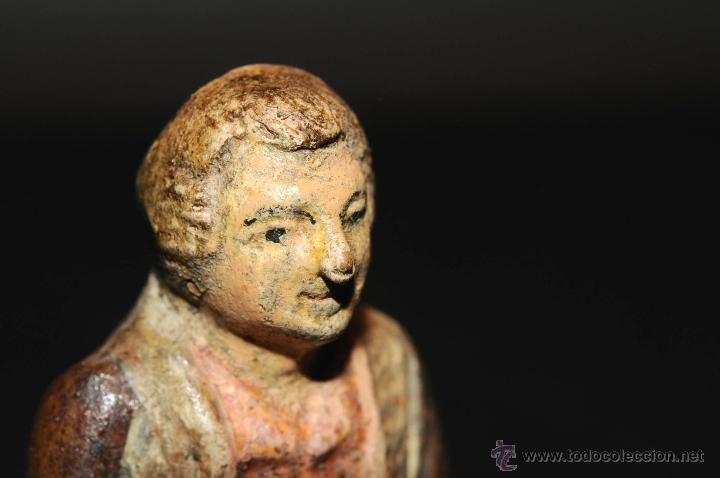 Figuras de Belén: FIGURA DE BELEN O PESEBRE EN TERRACOTA, HOMBRE CORTANDO PAN - Foto 4 - 46561124