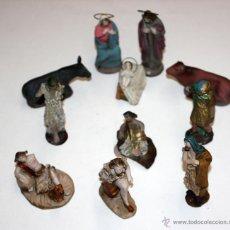 Figuras de Belén: LOTE DE 11 FIGURAS DE BELEN EN TERRACOTA DE MANUEL ORTIGAS. PESSEBRE. PESEBRE.. Lote 46967097