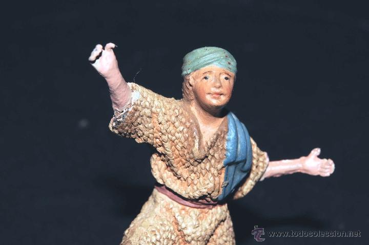 Figuras de Belén: FIGURA DE BELEN O PESEBRE EN TERRACOTA, PASTOR ADORANDO - Foto 4 - 47022593