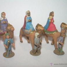 Figuras de Belén: ANTIGUAS Y PEQUEÑAS FIGURAS DE PLOMO......2,50 CM.. Lote 47225041