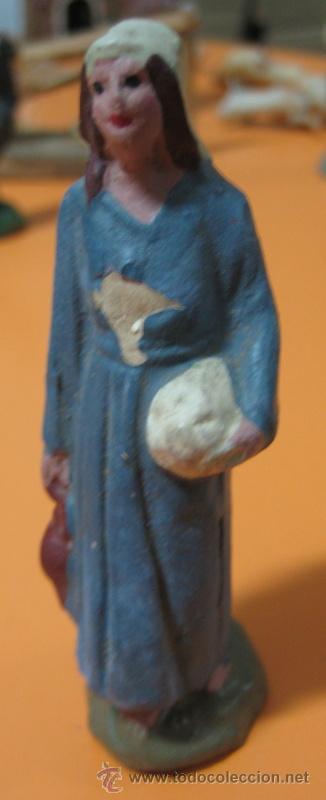 FIGURA BARRO - BELEN - ANTIGUO (Coleccionismo - Figuras de Belén)