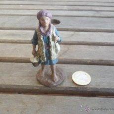 Figuras de Belén: FIGURA DE BELEN EN BARRO O TERRACOTA . Lote 48103602