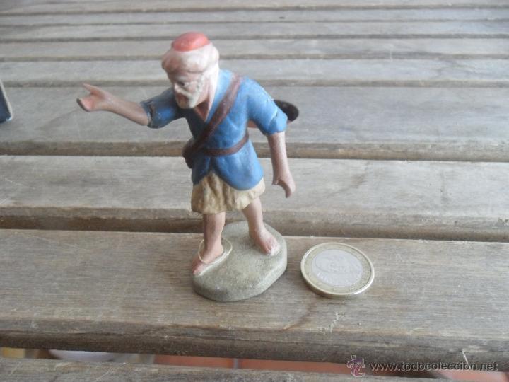 FIGURA DE BELEN EN BARRO O TERRACOTA PASTOR (Coleccionismo - Figuras de Belén)