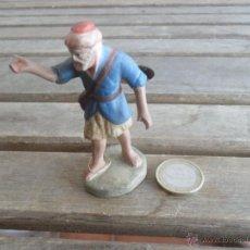 Figuras de Belén: FIGURA DE BELEN EN BARRO O TERRACOTA PASTOR. Lote 48507765