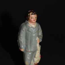 Figuras de Belén: FIGURA DE BELEN O PESEBRE EN TERRACOTA, HOMBRE CON CONEJO. Lote 48851256