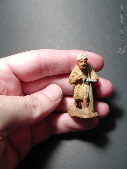 Figuras de Belén: Antigua figura de belén. Barro - Foto 2 - 49031149