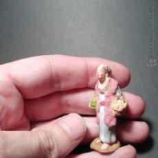 Figuras de Belén: ANTIGUA FIGURA DE BELÉN. BARRO. . Lote 49031323