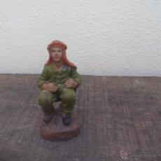 Figuras de Belén: FIGURA DE NACIMIENTO, PORTAL DE BELÉN, NAVIDAD. CAGANER. CAGÓN.. Lote 49166709