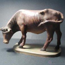 Figuras de Belén: ANTIGUA FIGURA DE BELEN. BUEY. GRAN DETALLE.. Lote 49656801