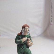 Figuras de Belén: ANTIGUA FIGURA BELÉN DE BARRO. MURCIA AÑOS 40. Lote 49793495