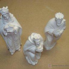 Figuras de Belén: LOS TRES REYES MAGOS DEL TALLER ARTE MODELO DE OLOT. Lote 121962903