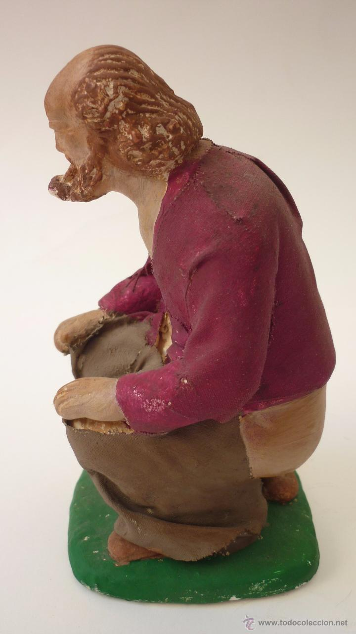 Figuras de Belén: CAGANER original en yeso pintado. Reclamo publicitario de escaparate. 15 ctms. de altura. - Foto 2 - 50227770