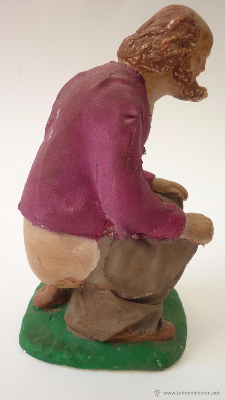 Figuras de Belén: CAGANER original en yeso pintado. Reclamo publicitario de escaparate. 15 ctms. de altura. - Foto 3 - 50227770