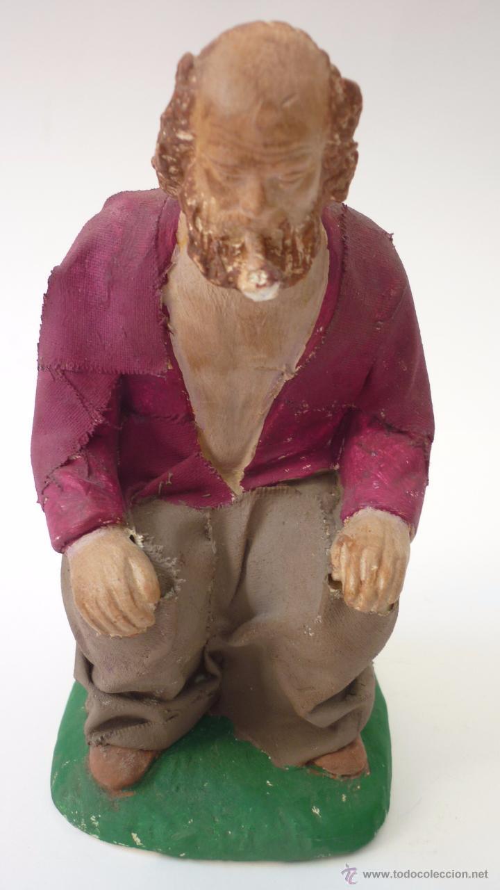 Figuras de Belén: CAGANER original en yeso pintado. Reclamo publicitario de escaparate. 15 ctms. de altura. - Foto 4 - 50227770