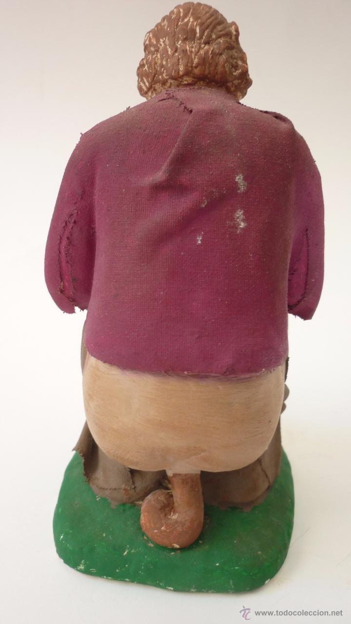 Figuras de Belén: CAGANER original en yeso pintado. Reclamo publicitario de escaparate. 15 ctms. de altura. - Foto 5 - 50227770
