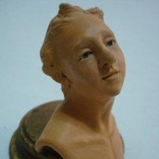 Figuras de Belén: CABEZA DE PASTOR NAPOLITANO. PIEZA ÚNICA. BELÉN/NACIMIENTO/PESEBRE. ITALIA. Lote 50478909