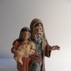 Figuras de Belén: PASTOR CON NIÑO. BELÉN/NACIMIENTO/PESEBRE. J. MAYO.. Lote 50697214