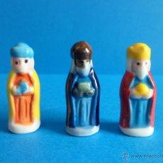 Figuras de Belén: TRES REYES MAGOS DE PORCELANA - CERÁMICA - FIGURAS DE ROSCONES DE REYES. Lote 51112465