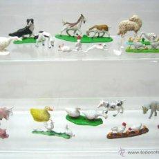Figuras de Belén: LOTE ANIMALES VINTAGE PLASTICO BELEN NACIMIENTO. Lote 51356251