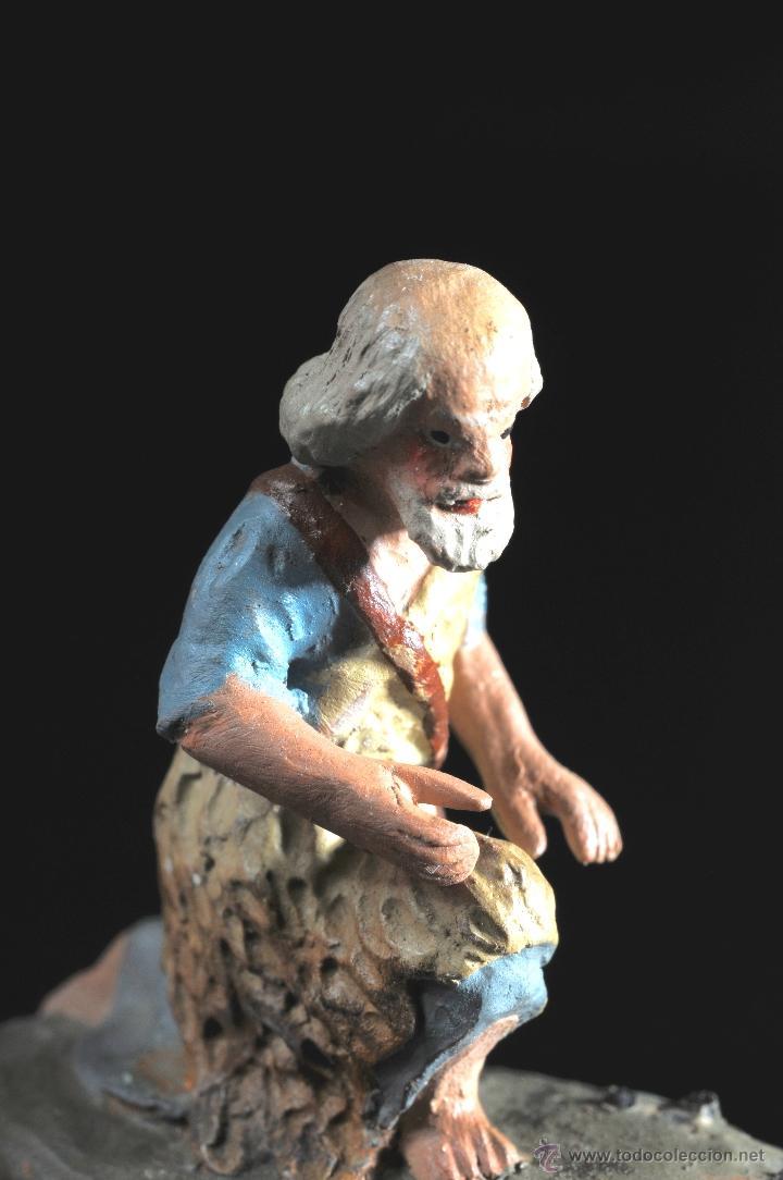 Figuras de Belén: FIGURA DE BELEN O PESEBRE EN TERRACOTA PASTOR ADORANDO - Foto 2 - 51733092