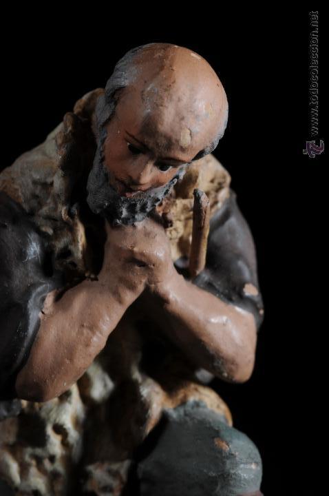 Figuras de Belén: FIGURA DE BELEN O PESEBRE EN TERRACOTA PASTOR ADORANDO - Foto 2 - 51733173