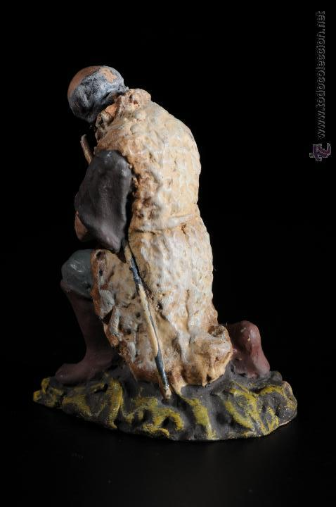 Figuras de Belén: FIGURA DE BELEN O PESEBRE EN TERRACOTA PASTOR ADORANDO - Foto 3 - 51733173