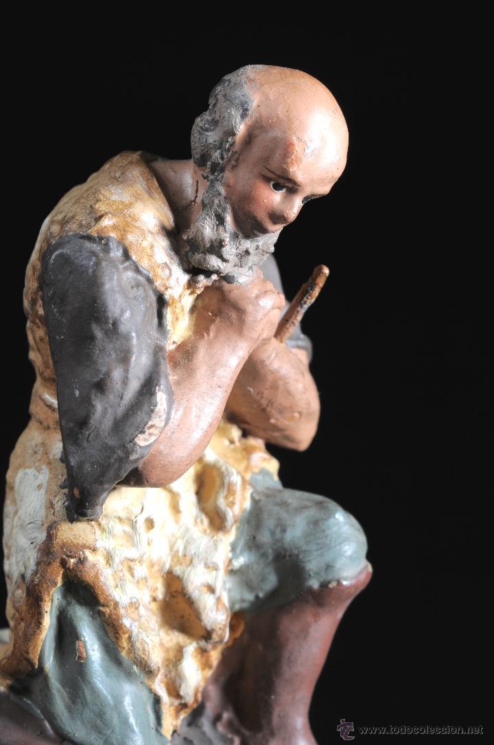 Figuras de Belén: FIGURA DE BELEN O PESEBRE EN TERRACOTA PASTOR ADORANDO - Foto 2 - 51779637