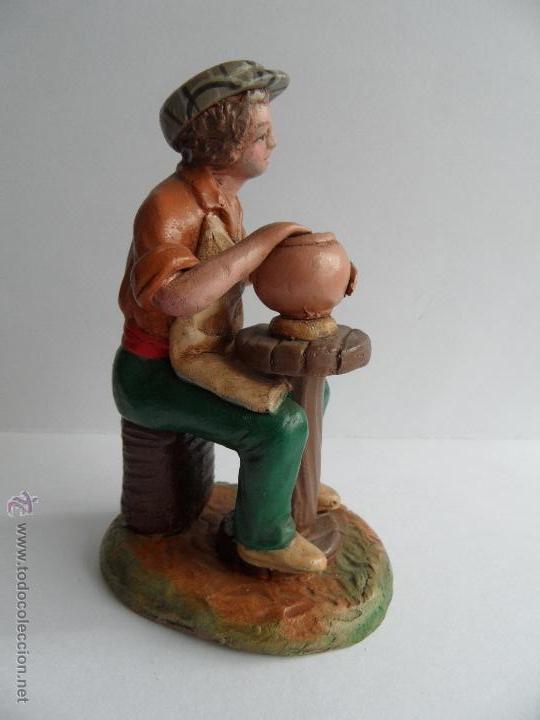 Figuras de Belén: Alfarero. Figura Belén/Nacimiento/Pesebre. José Lozano. Granada - Foto 3 - 52461704