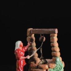 Figuras de Belén: FIGURA DE BELEN O PESEBRE EN TERRACOTA DIORAMA MUJER Y POZO. Lote 52481045