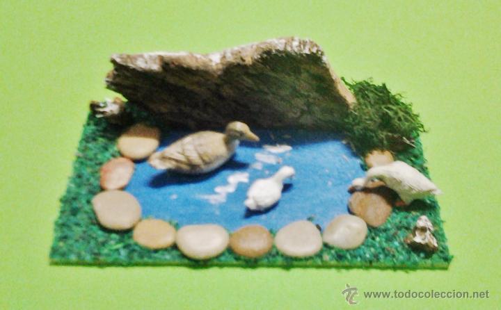 Navidad belen estanque lago rincon pa comprar for Plastico para lagunas artificiales