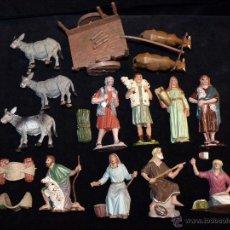 Figuras de Belén: LOTE DE 13 GRANDES FIGURAS DE BELÉN OLIVER. 12-13 CM. AÑOS 70. Lote 52807013