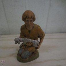 Figuras de Belén: FIGURA BELEN PASTOR CORDERO. Lote 53170089