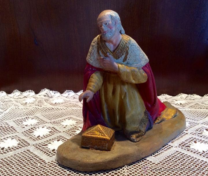 Figuras de Belén: Tres Reyes Magos antiguos - Foto 2 - 53507532