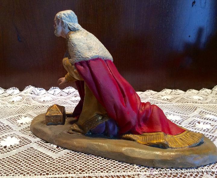 Figuras de Belén: Tres Reyes Magos antiguos - Foto 3 - 53507532