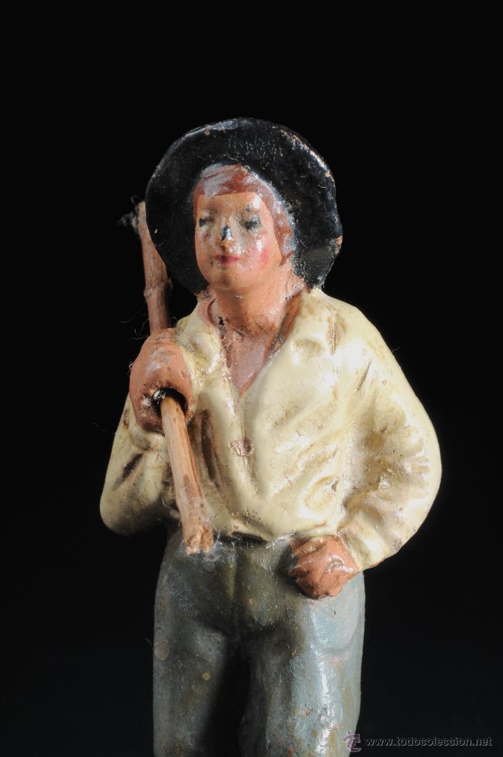 Figuras de Belén: FIGURA DE BELEN O PESEBRE EN TERRACOTA HOMBRE - Foto 3 - 53514275
