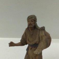 Figuras de Belén: MUY ANTIGUA FIGURA DE BELEN PASTOR . CASTELLS AÑOS 40 / 50. Lote 53530231