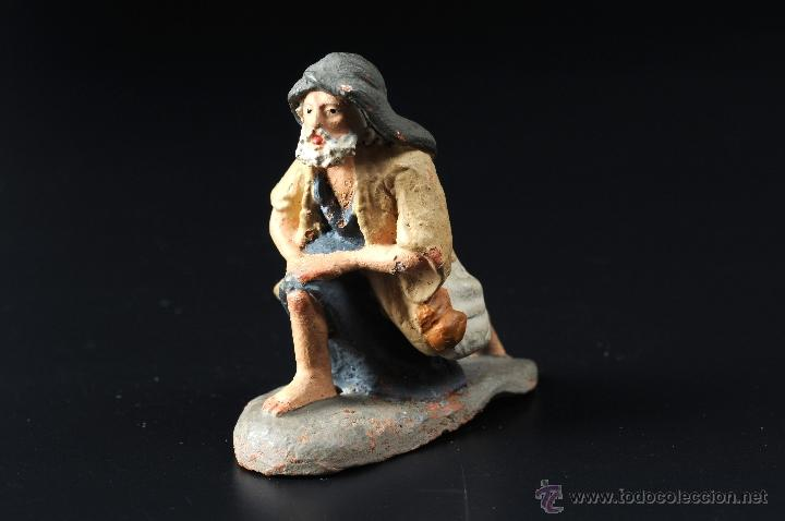 FIGURA DE BELEN O PESEBRE EN TERRACOTA PASTOR ADORANDO (Coleccionismo - Figuras de Belén)