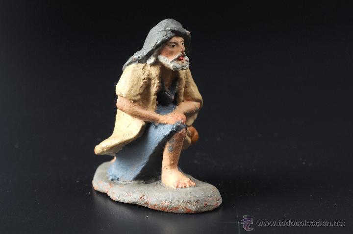 Figuras de Belén: FIGURA DE BELEN O PESEBRE EN TERRACOTA PASTOR ADORANDO - Foto 2 - 54006762