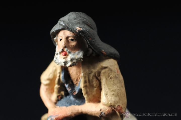 Figuras de Belén: FIGURA DE BELEN O PESEBRE EN TERRACOTA PASTOR ADORANDO - Foto 3 - 54006762