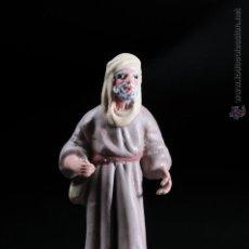 Figuras de Belén: FIGURA DE BELEN O PESEBRE EN TERRACOTA HOMBRE CON MORRAL. Lote 54557040