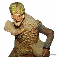 Figuras de Belén: MUY ANTIGUA FIGURA DE TERRACOTA.. Lote 54760430
