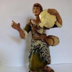 Figuras de Belén: ANTIGUO PASTOR DE TERRACOTA DE BELÉN AÑOS 40 DE 20 CENTIMETROS. Lote 55071624