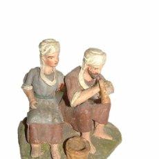 Figuras de Belén: BONITO CONJUNTO DE FIGURAS DE TERRACOTA. Lote 22005539