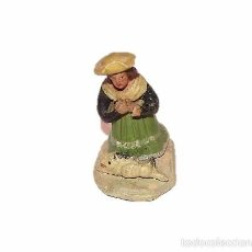 Figuras de Belén: ANTIGUA FIGURA DE BARRO EPOCA ISABELINA. Lote 16953480